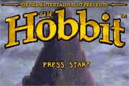 Title screen of Hobbit on the Nintendo Game Boy Advance.