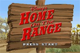 Title screen of Home on the Range on the Nintendo Game Boy Advance.