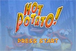Title screen of Hot Potato on the Nintendo Game Boy Advance.