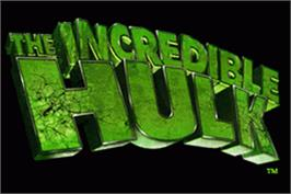 Title screen of Incredible Hulk on the Nintendo Game Boy Advance.