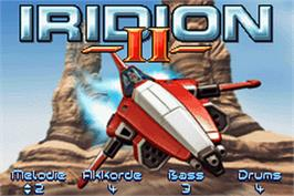 Title screen of Iridion 2 on the Nintendo Game Boy Advance.