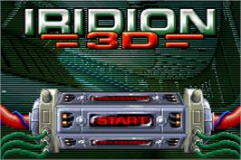 Title screen of Iridion 3D on the Nintendo Game Boy Advance.