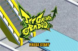 Title screen of Jet Grind Radio on the Nintendo Game Boy Advance.
