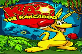 Title screen of Kao the Kangaroo on the Nintendo Game Boy Advance.