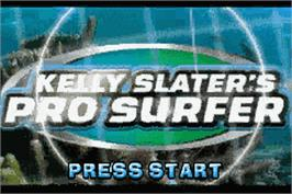 Title screen of Kelly Slater's Pro Surfer on the Nintendo Game Boy Advance.