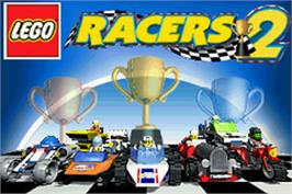 Title screen of LEGO Racers 2 on the Nintendo Game Boy Advance.