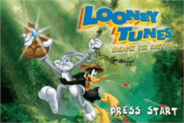 Title screen of Looney Tunes Back in Action on the Nintendo Game Boy Advance.