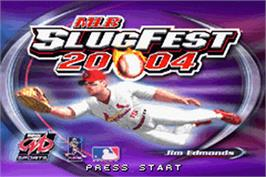 Title screen of MLB SlugFest 20-04 on the Nintendo Game Boy Advance.