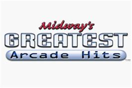 Title screen of Midway's Greatest Arcade Hits on the Nintendo Game Boy Advance.