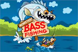 Title screen of Monster! Bass Fishing on the Nintendo Game Boy Advance.