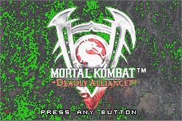 Title screen of Mortal Kombat: Deadly Alliance on the Nintendo Game Boy Advance.