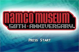 Title screen of Namco Museum 50th Anniversary on the Nintendo Game Boy Advance.