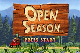 Title screen of Open Season on the Nintendo Game Boy Advance.