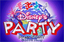 Title screen of Party on the Nintendo Game Boy Advance.