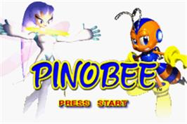 Title screen of Pinobee: Wings of Adventure on the Nintendo Game Boy Advance.