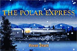 Title screen of Polar Express on the Nintendo Game Boy Advance.