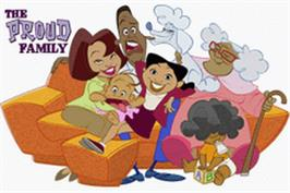 Title screen of Proud Family on the Nintendo Game Boy Advance.