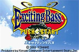 Title screen of Punching Bags on the Nintendo Game Boy Advance.
