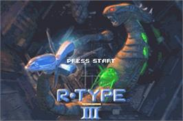 Title screen of R-Type III: The Third Lightning on the Nintendo Game Boy Advance.