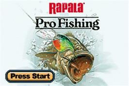 Title screen of Rapala Pro Fishing on the Nintendo Game Boy Advance.