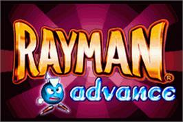 Title screen of Rayman: Hoodlum's Revenge on the Nintendo Game Boy Advance.