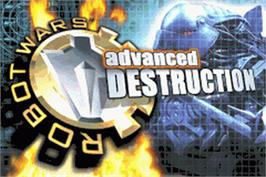 Title screen of Robot Wars: Advanced Destruction on the Nintendo Game Boy Advance.