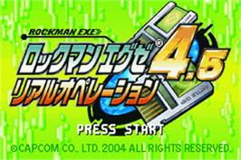Title screen of Rockman EXE 4.5 Real Operation on the Nintendo Game Boy Advance.