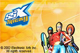 Title screen of SSX Tricky on the Nintendo Game Boy Advance.