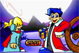 Title screen of Santa Claus Jr. Advance on the Nintendo Game Boy Advance.