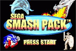 Title screen of Sega Smash Pack on the Nintendo Game Boy Advance.