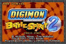 Title screen of Shaman King: Master of Spirits 2 on the Nintendo Game Boy Advance.
