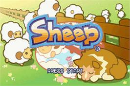 Title screen of Sheep on the Nintendo Game Boy Advance.