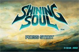 Title screen of Shining Soul on the Nintendo Game Boy Advance.