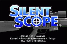 Title screen of Silent Scope on the Nintendo Game Boy Advance.
