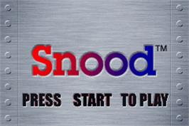 Title screen of Snood on the Nintendo Game Boy Advance.