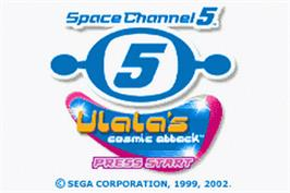 Title screen of Space Channel 5: Ulala's Cosmic Attack on the Nintendo Game Boy Advance.