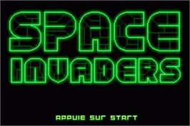 Title screen of Space Invaders on the Nintendo Game Boy Advance.
