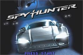 Title screen of Spy Hunter / Super Sprint on the Nintendo Game Boy Advance.