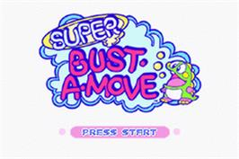 Title screen of Super Bust-A-Move on the Nintendo Game Boy Advance.