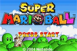 Title screen of Super Mario Bros. 3 on the Nintendo Game Boy Advance.
