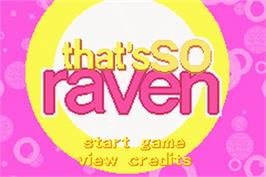 Title screen of That's So Raven on the Nintendo Game Boy Advance.