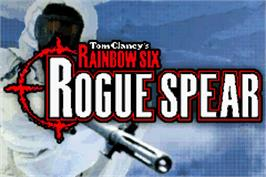 Title screen of Tom Clancy's Rainbow Six: Rogue Spear on the Nintendo Game Boy Advance.