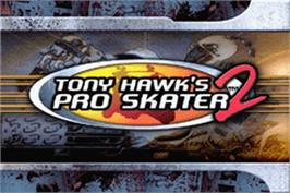 Title screen of Tony Hawk's Pro Skater 2 on the Nintendo Game Boy Advance.