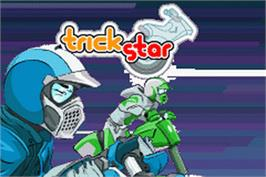 Title screen of Trick Star on the Nintendo Game Boy Advance.