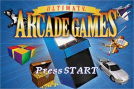Title screen of Ultimate Arcade Games on the Nintendo Game Boy Advance.
