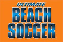 Title screen of Ultimate Beach Soccer on the Nintendo Game Boy Advance.