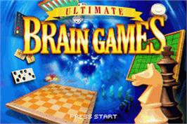 Title screen of Ultimate Brain Games on the Nintendo Game Boy Advance.