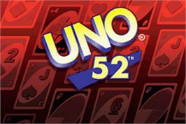 Title screen of Uno 52 on the Nintendo Game Boy Advance.