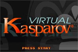 Title screen of Virtual Kasparov on the Nintendo Game Boy Advance.