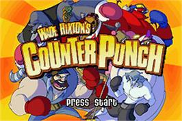 Title screen of Wade Hixton's Counter Punch on the Nintendo Game Boy Advance.